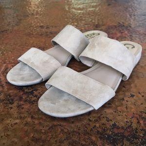 {Sam Edelman} Tan Suede Sandals. Size 7.5. EUC.